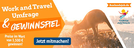 Work and Travel Umfrage 2018 | Auslandsjob.de (ein Projekt der INITIATIVE auslandszeit)