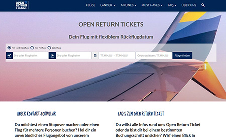 Open-Return-Ticket.de Relaunch | INITIATIVE auslandszeit