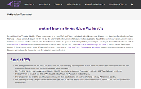 Working-Holiday-Visum.de | Ein Projekt der INITIATIVE auslandszeit